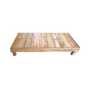 Base de madera tamaño matrimonial en madera de pino sin acabados