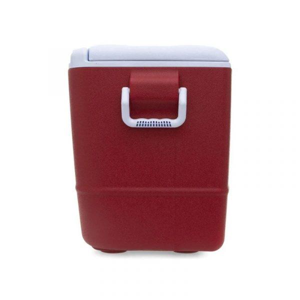 Hielera Roja grande con capacidad de 50 latas