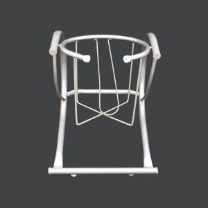 Portagarrafon sencillo en acero tubular y teñido en color gris