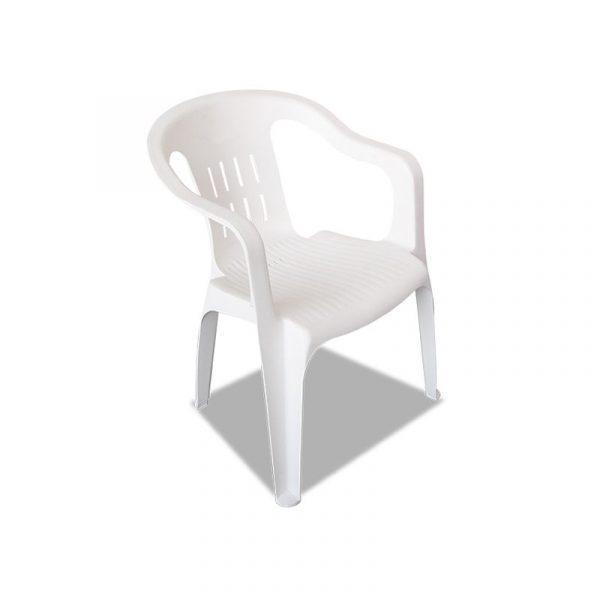 Silla de plástico color blanca modelo confort
