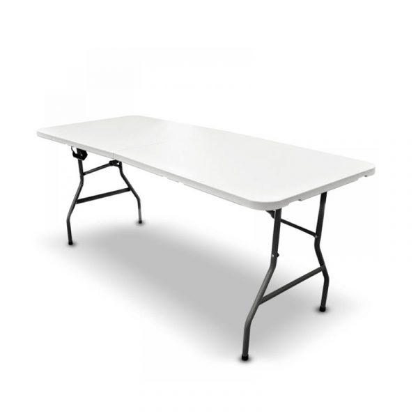 Mesa de plástico plegable y portátil medida de 180 cm
