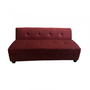 Sofa Cama en color rojo tinto, abatible