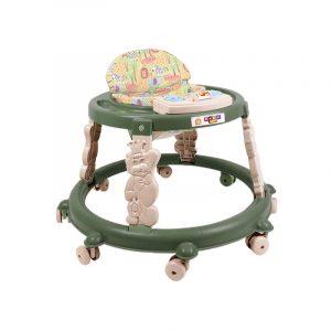 Andadera en color verde para niño o niña, incluye juego musical