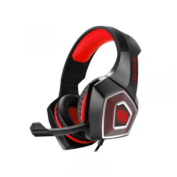 Audífonos Gamer marca Necnon modelo Dragon en color rojo