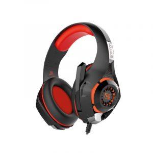 Audifonos Gamer marca Necnon modelo Viper en color rojo